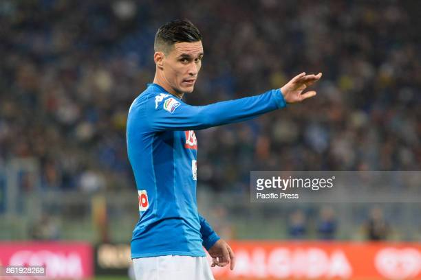 Jose Maria Callejon during the Italian Serie A football match between AS Roma and SSC Napoli at the Olympic Stadium in Rome on october 14 2017