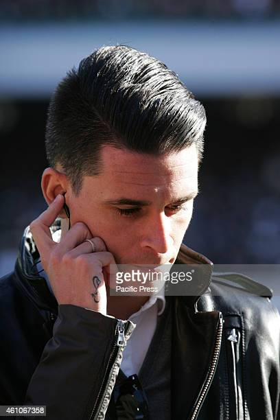 Jose Maria Callejon during the open door first training session of 2015 which is attended by about 25000 fans in the San Paolo stadium