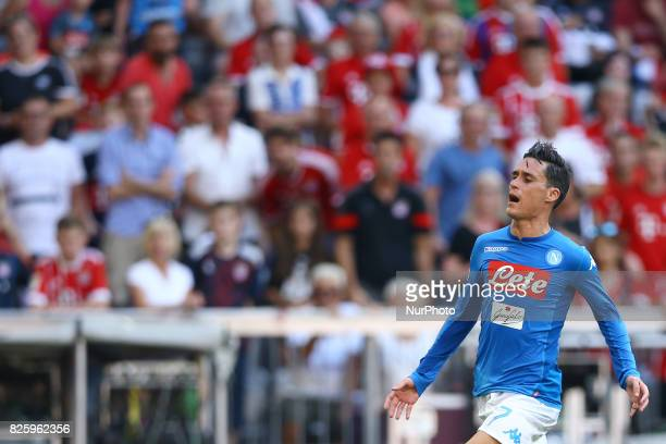 Jose Maria Callejon of Napoli during the Audi Cup 2017 match between SSC Napoli and FC Bayern Muenchen at Allianz Arena on August 2 2017 in Munich...
