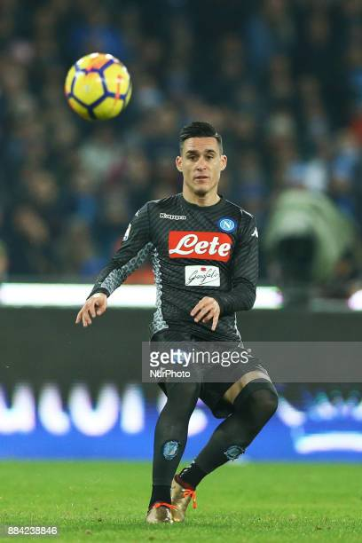Jose Maria Callejon of Napoli during the Serie A match between SSC Napoli and Juventus at Stadio San Paolo on December 1 2017 in Naples Italy