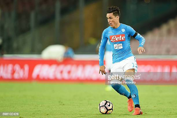 Jose Maria Callejon of Napoli in action before the Serie A match between SSC Napoli and AC Milan at Stadio San Paolo on August 27 2016 in Naples Italy
