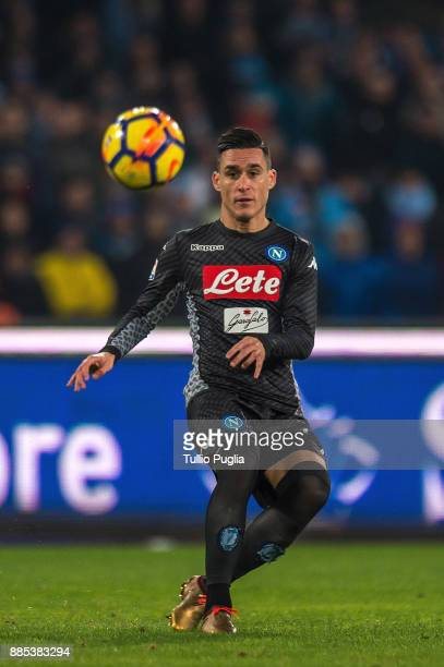 Jose Maria Callejon of Napoli in action during the Serie A match between SSC Napoli and Juventus at Stadio San Paolo on December 1 2017 in Naples...