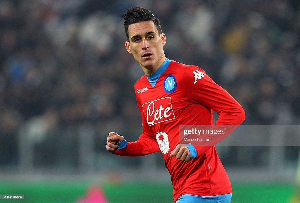 Jose Maria Callejon of SSC Napoli looks on during the Serie A match between and Juventus FC and SSC Napoli at Juventus Arena on February 13 2016 in...