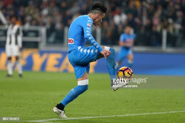 Jose Maria Callejon of SSC Napoli scores a goal during the Serie A match between Juventus FC and SSC Napoli Juventus Fc wins 21 over SSC Napoli