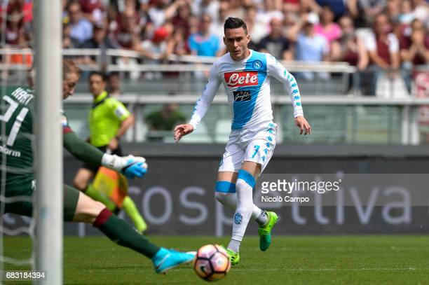 Jose Maria Callejon of SSC Napoli scores the opening goal during the Serie A football match between Torino FC and SSC Napoli SSC Napoli wins 50 over...