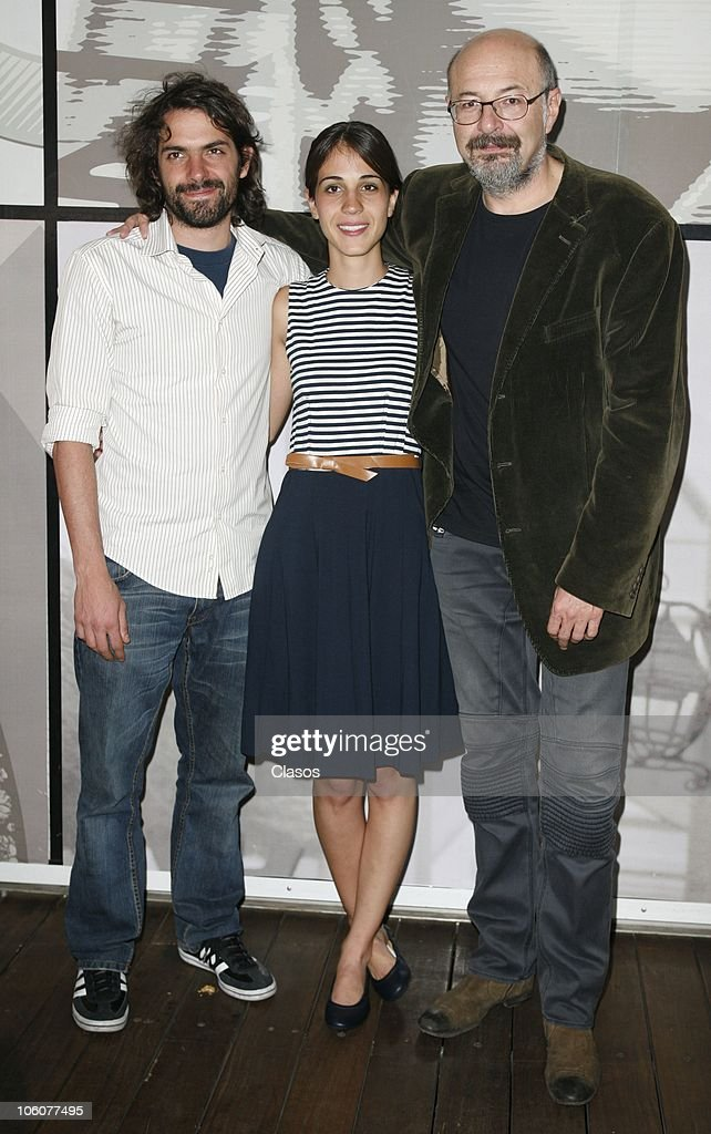 Jose Maria de Tavira, Cassandra Ciangherotti and Francisco Athie, of the movie El Baile de San Juan, pose during the 8th Morelia International Film Festival on October 23, 2010 in Morelia, Mexico.