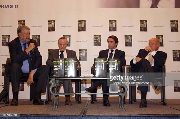 Jose Maria Fidalgo Josep Pique and Jose Maria Aznar attend the presentation of the new book of Spanish Ex Prime Minister Jose Maria Aznar 'El...