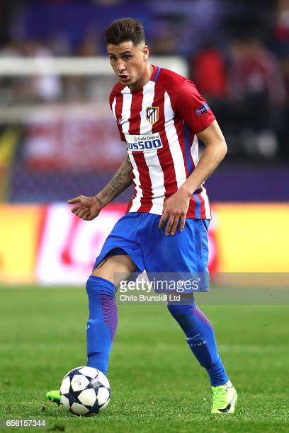 Jose Maria Gimenez of Club Atletico de Madrid in action during the UEFA Champions League Round of 16 second leg match between Club Atletico de Madrid...