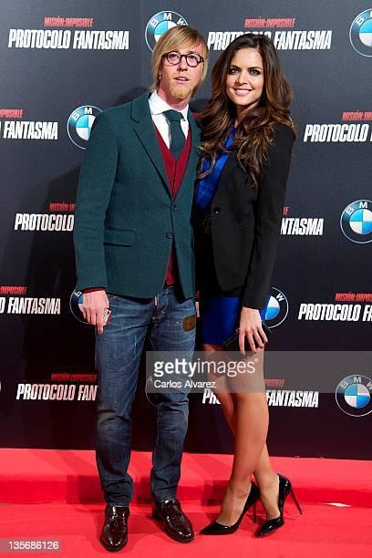 Jose Maria Gutierrez 'Guti' and Romina Belluscio attend 'Mission Impossible Ghost Protocol' premiere at Callao cinema on December 12 2011 in Madrid...