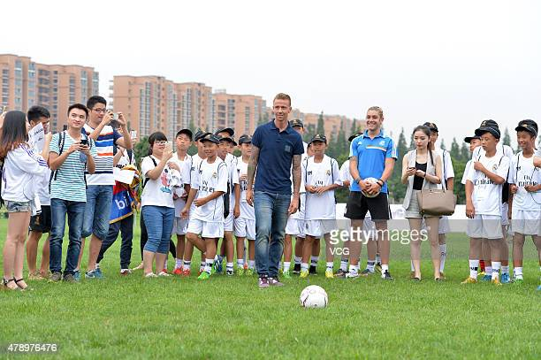Jose Maria Gutierrez 'Guti' meets fans as Real Madrid's Campus Experience opens on June 29 2015 in Chengdu China