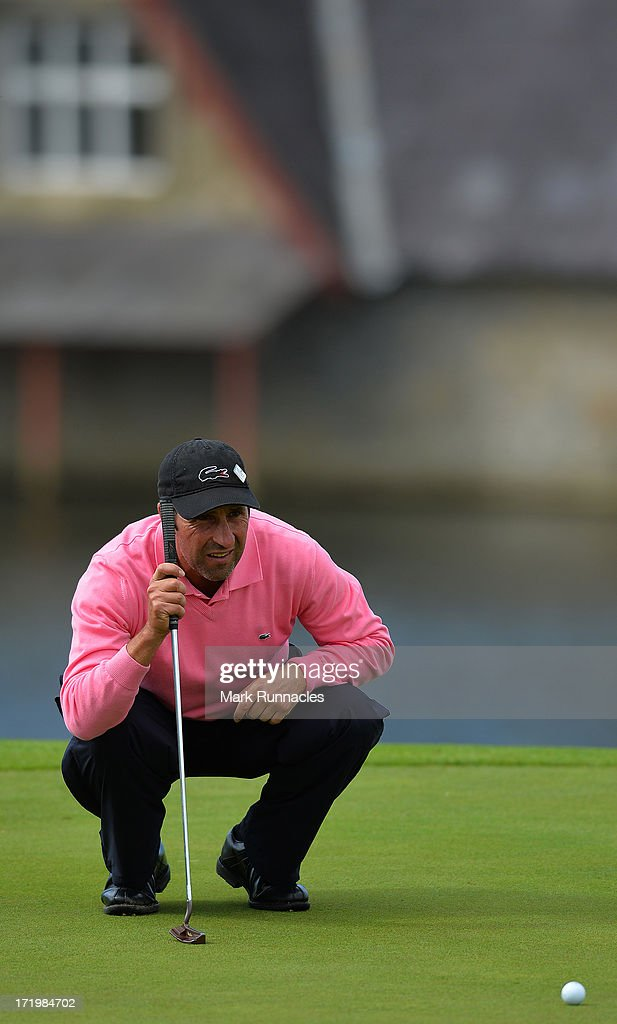 Jose Maria Olazabal of Spain at the conclusion of the Irish Open at Carton House Golf Club on June 30, 2013 in Maynooth, Ireland.