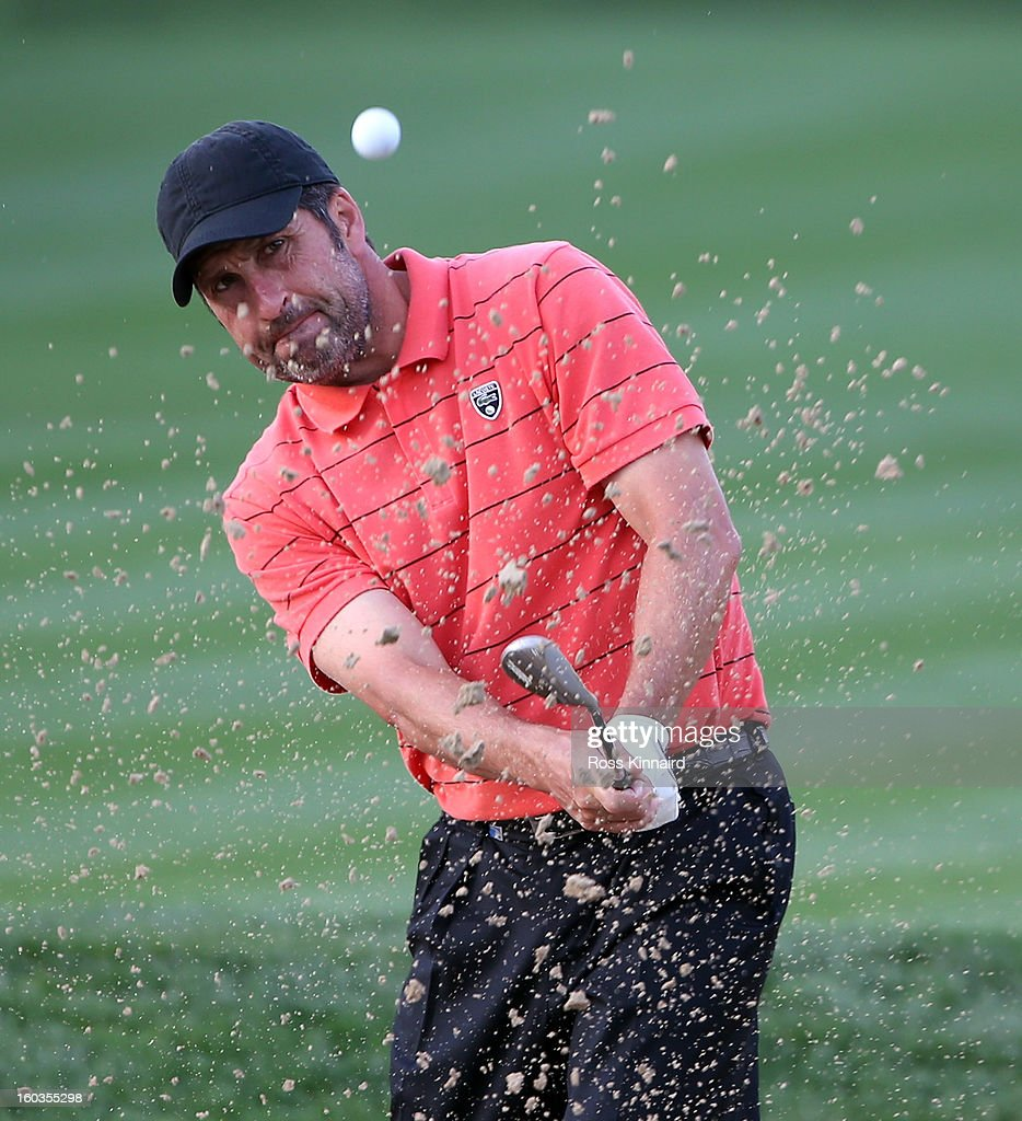 Jose Maria Olazabal of Spain during the pro-am event prior to the Omega Dubai Desert Classic on January 30, 2013 in Dubai, United Arab Emirates.