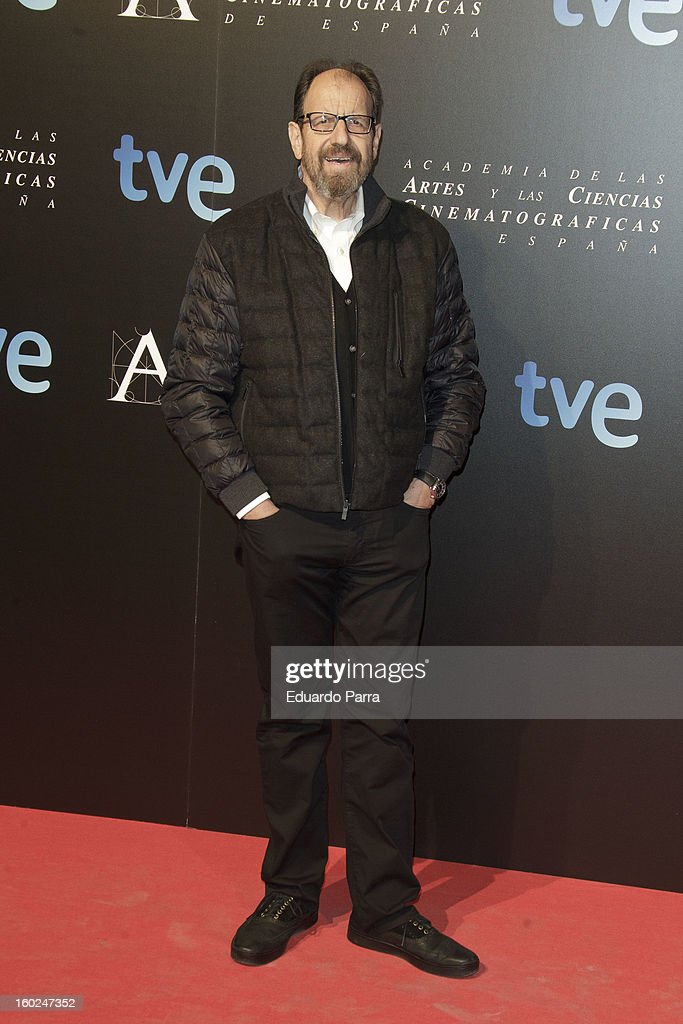 Jose Maria Pou attends Goya awards final candidates party photocall at El Canal theatre on January 28, 2013 in Madrid, Spain.