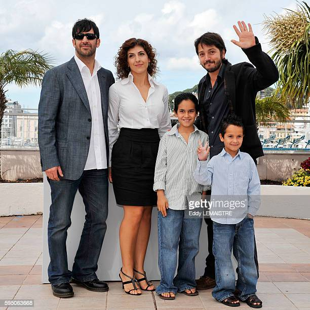Jose Maria Yazpik Karina Gidi Christopher RuizEsparza Diego Luna and Gerardo RuizEsparza at the photo call for Abel during the 63rd Cannes...