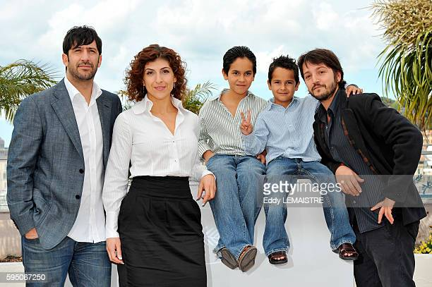 Jose Maria Yazpik Karina Gidi Christopher RuizEsparza Gerardo RuizEsparza and Diego Luna at the photo call for Abel during the 63rd Cannes...