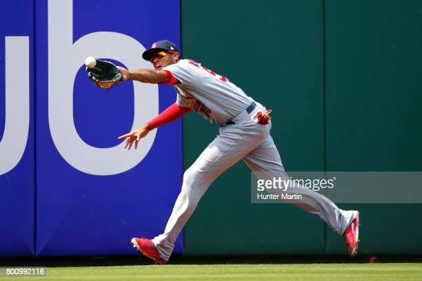 Jose Martinez of the St Louis Cardinals during a game against the Philadelphia Phillies at Citizens Bank Park on June 22 2017 in Philadelphia...