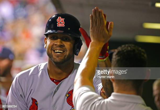 Jose Martinez of the St Louis Cardinals during a game against the Philadelphia Phillies at Citizens Bank Park on June 21 2017 in Philadelphia...
