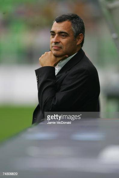 Jose Martins Couceiro of Portugal looks on during the UEFA U21 Championship group A match between Portugal U21 and Belgium U21 at the Euroborg...