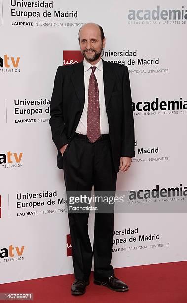 Jose Miguel Fernandez Sastron attends 'Tesoros Vivos de la Television' tribute meeting at the European University on March 6 2012 in Madrid Spain