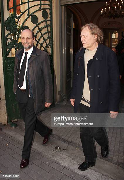 Jose Miguel Fernandez Sastron attends the chapel for the singer Manolo Tena at SGAE Headquarters on April 5 2016 in Madrid Spain