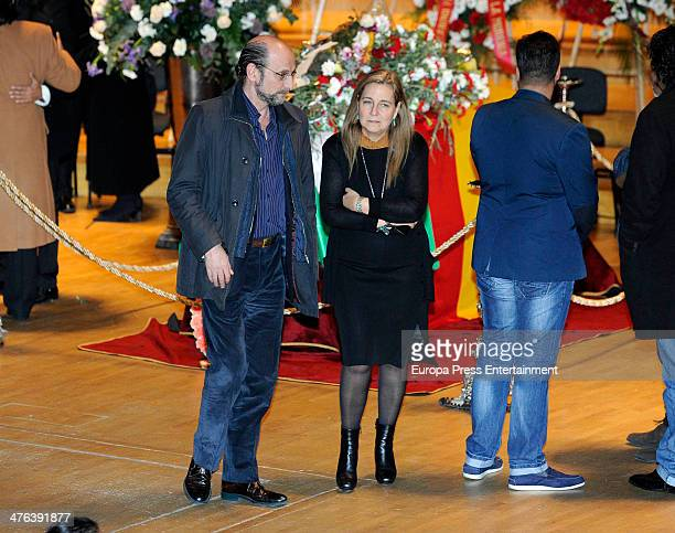 Jose Miguel Fernandez Sastron attends the funeral chapel for the flamenco guitarist Paco de Lucia at Auditorio Nacional on February 28 2014 in Madrid...