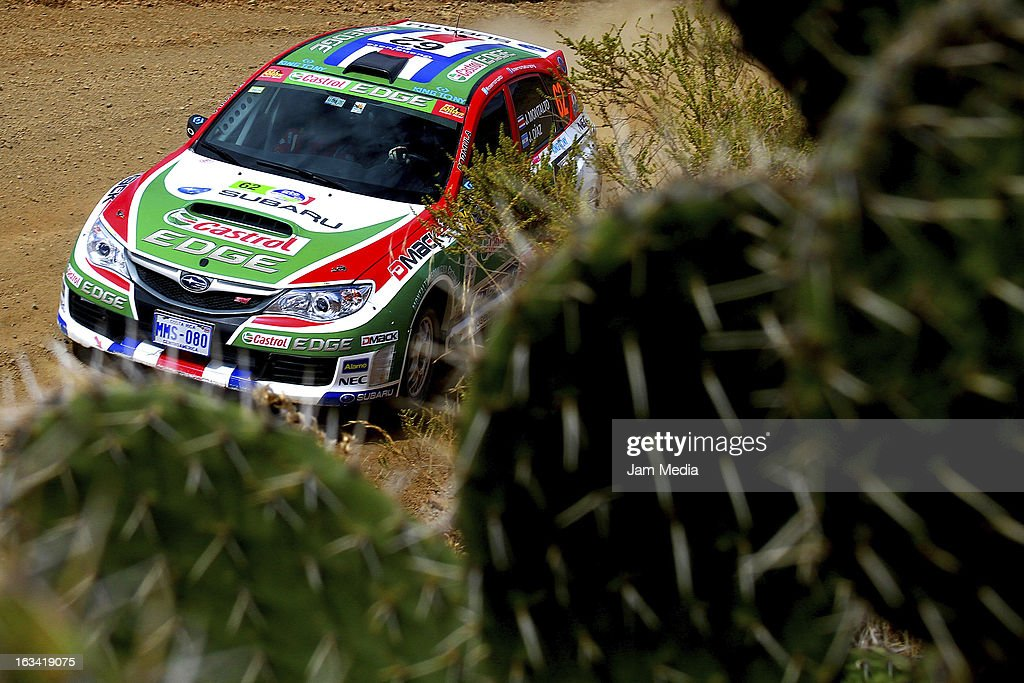 Jose Montalto and Jose Diaz of Costa Rica during the WRC Rally Championship Mexico on March 09, 2013 in Leon , Mexico.