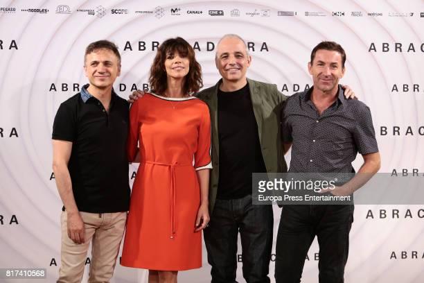 Jose Mota Maribel Verdu Pablo Berger and Antonio de la Torre attend 'Abracadabra' Madrid photocall on July 17 2017 in Madrid Spain