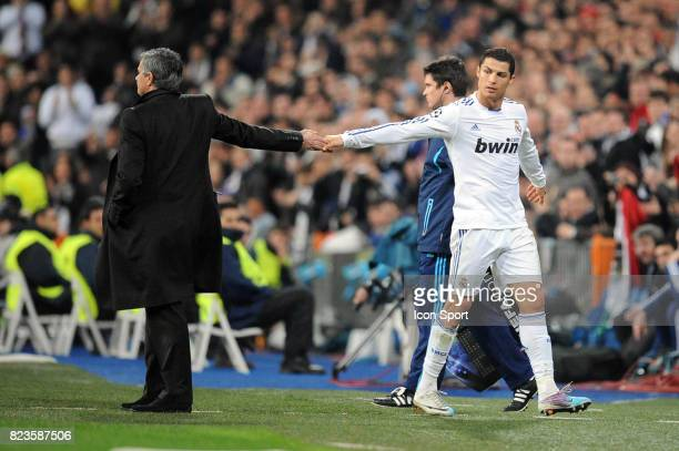 Jose MOURINHO / Cristiano RONALDO Real Madrid / Lyon 8eme de Finale Champions League 2010/2011 Madrid