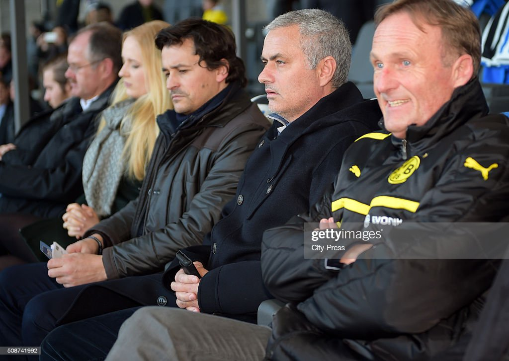 Jose Mourinho during the game between Hertha BSC and Borussia Dortmund on February 6, 2016 in Berlin, Germany.
