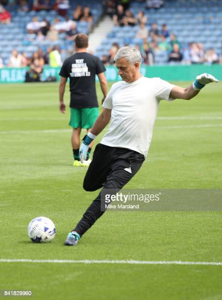 Jose Mourinho during the #GAME4GRENFELL at Loftus Road on September 2 2017 in London England The charity football match has been set up to benefit...