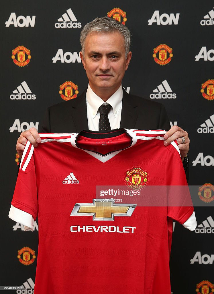 Jose Mourinho is unveiled as the new Manchester United Manager on May 26, 2016 in London, England.