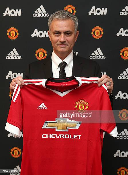 Jose Mourinho is unveiled as the new Manchester United Manager on May 26 2016 in London England