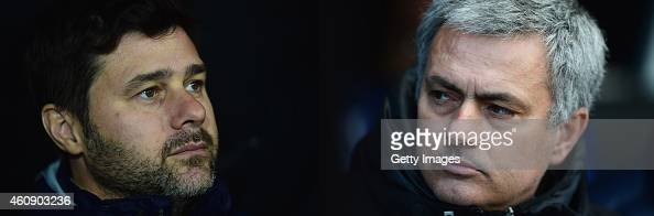COMPOSITE OF TWO IMAGES Image numbers 460312336 and 475761065 In this composite image a comparision has been made between Mauricio Pochettino Manager...
