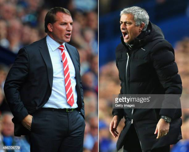 IMAGES Image Numbers 150452492 and 479407505 In this composite image a comparison has been made between Brendan Rodgers manager of Liverpool and...