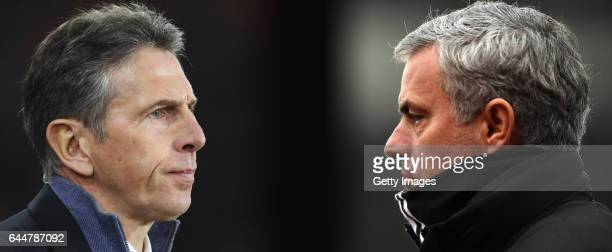 GRADIENT ADDED COMPOSITE OF TWO IMAGES Image numbers 630621100 and 632284824 In this composite image a comparision has been made between Claude Puel...