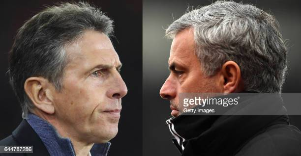 EDITORS NOTE COMPOSITE OF TWO IMAGES Image numbers 630621100 and 632284824 In this composite image a comparision has been made between Claude Puel...