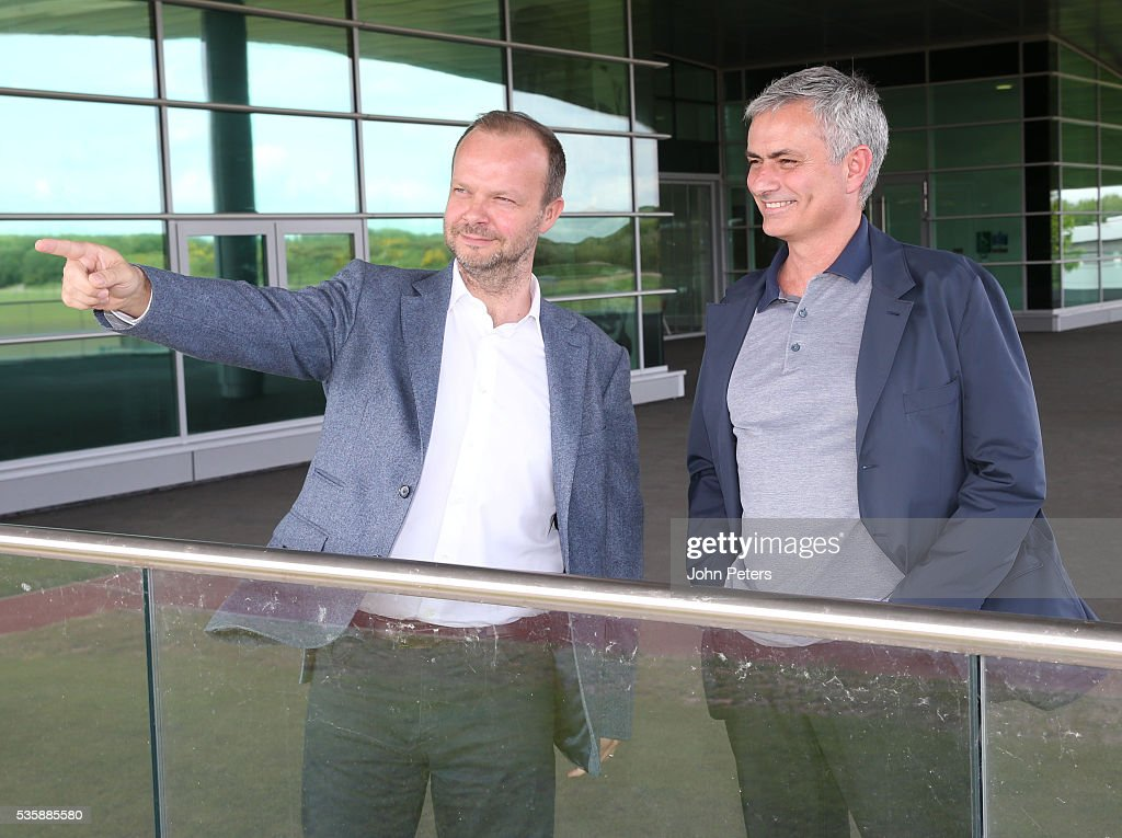 Jose Mourinho vists Aon Training Complex : News Photo