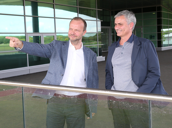 Jose Mourinho vists Aon Training Complex : News Photo