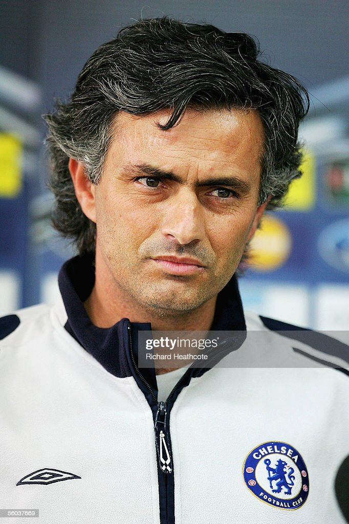 Jose Mourinho the Chelsea coach talks to the media during Chelsea's preparation for tomorrow's UEFA Champions League group G match against Real Betis...
