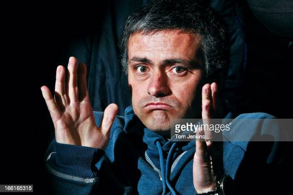 Jose Mourinho the Chelsea FC manager during a press conference at the Chelsea training ground on February 25th 2005 in Cobham Surrey An image from...
