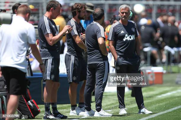 Jose Mourinho the head coach / manager of Manchester United prior to the International Champions Cup 2017 match between Real Madrid v Manchester...