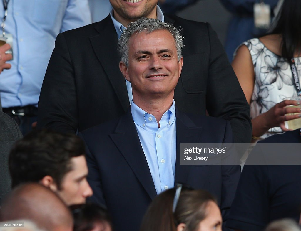 Jose Mourinho the manager of Manchester United looks on during the Soccer Aid 2016 match in aid of UNICEF at Old Trafford on June 5, 2016 in Manchester, England.