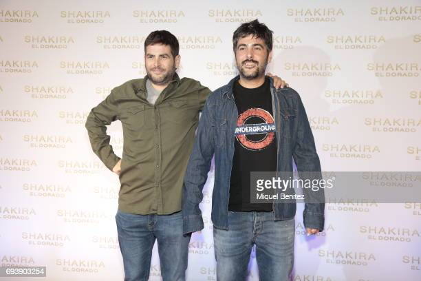 Jose Munoz and David Munoz 'Estopa' attend 'El Dorado' the latest Shakira's album on June 8 2017 in Barcelona Spain
