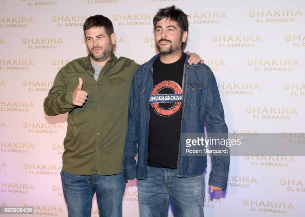 Jose Munoz and David Munoz pose during a photocall for the new Shakira album 'El Dorado' at the Convent of Angels on June 8 2017 in Barcelona Spain