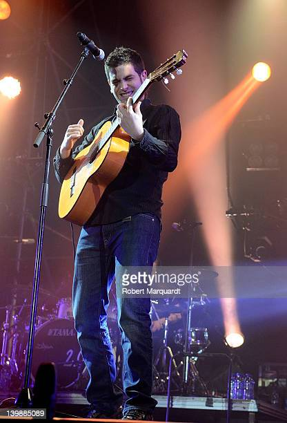 Jose Munoz of Estopa performs on stage at the Palau Sant Jordi on February 25 2012 in Barcelona Spain