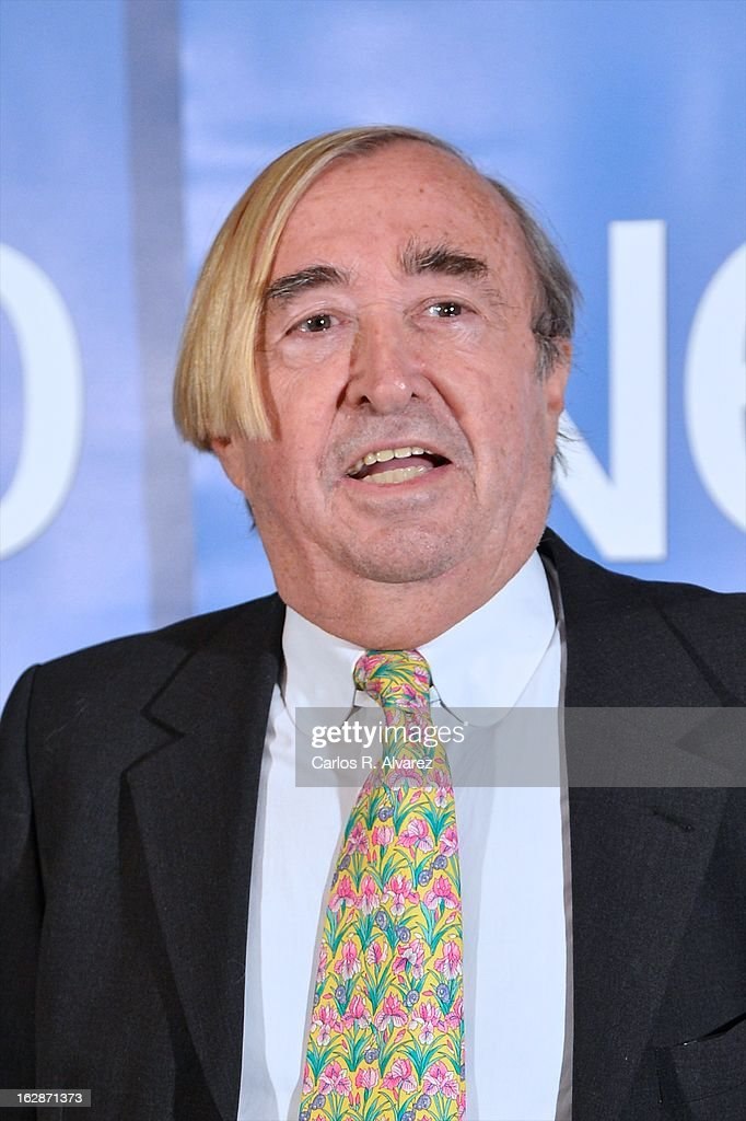 Jose Oneto attends the presentation of 'Testamento' new book by Pedro Ruiz at the Club the Tiro on February 28, 2013 in Madrid, Spain.