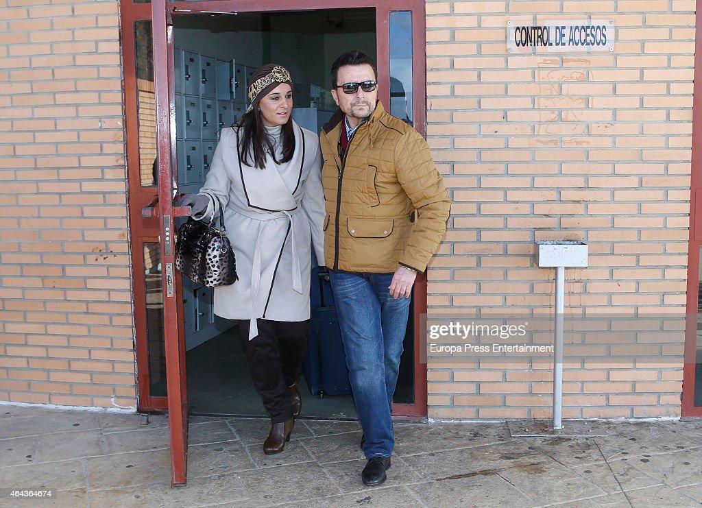 Jose Ortega Cano Leaves Prison In Zaragoza - February 24, 2015