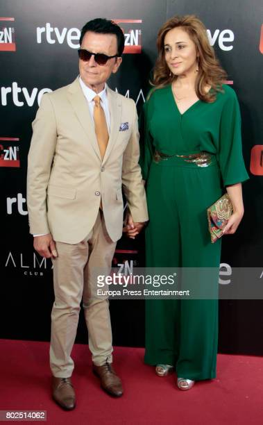 Jose Ortega Cano and Ana Maria Aldon attend 'Corazon' TV Programme 20th Anniversary at Alma club on June 27 2017 in Madrid Spain