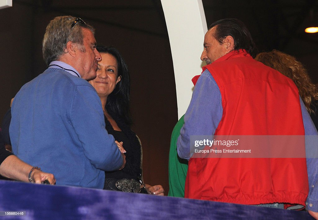 <a gi-track='captionPersonalityLinkClicked' href=/galleries/search?phrase=Jose+Ortega+Cano&family=editorial&specificpeople=598511 ng-click='$event.stopPropagation()'>Jose Ortega Cano</a> (L) and <a gi-track='captionPersonalityLinkClicked' href=/galleries/search?phrase=Julian+Munoz&family=editorial&specificpeople=885022 ng-click='$event.stopPropagation()'>Julian Munoz</a> attend 'SICAB 2012' exhibition on November 22, 2012 in Seville, Spain.
