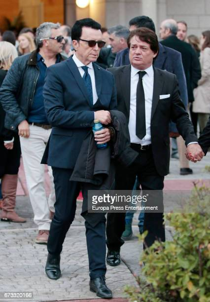Jose Ortega Cano attends the funeral chapel for the bullfighter Sebastian Palomo Linares on April 25 2017 in Madrid Spain
